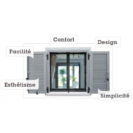 volet battant aluminium isol prix affordable volets alu. Black Bedroom Furniture Sets. Home Design Ideas