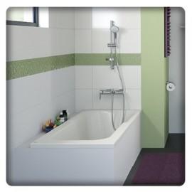 Habillage de baignoire en mélaminé blanc