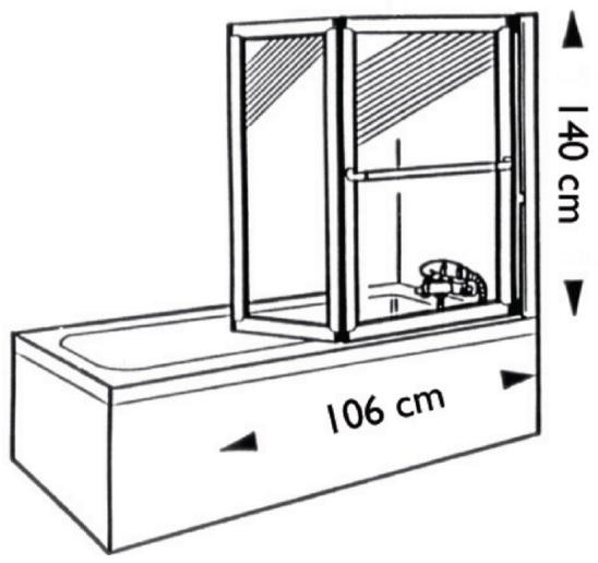 bricol 39 home pare bain pliant relevable fourniture et pose. Black Bedroom Furniture Sets. Home Design Ideas