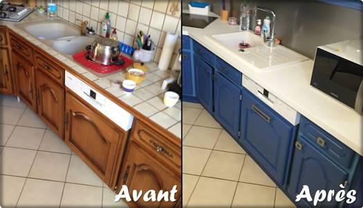 Relooking cuisine évier et plan de travail par Bricol'Home