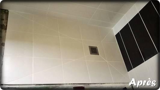 Chantier remplacement de douche par Bricol'Home