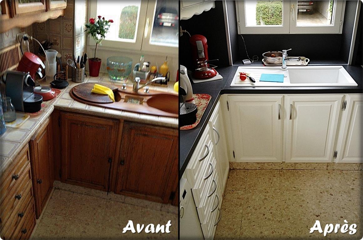 Chantier cuisine Bricol'Home, rénovation et relooking de la cuisine, plan de travail et évier