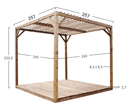Bricol 39 home pergolas en bois for Exemple de pergola en bois