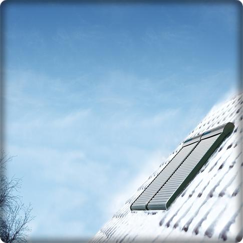 Volet roulant VELUX hiver et neige