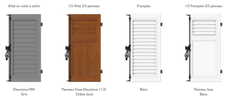 volet persienne pvc prix trendy disponible en pvc with. Black Bedroom Furniture Sets. Home Design Ideas