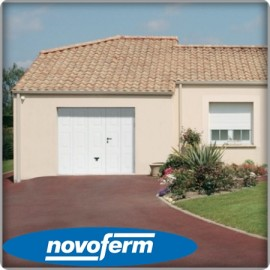 Porte basculante blanche Noviso