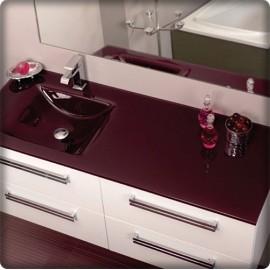 Plan vasque en verre