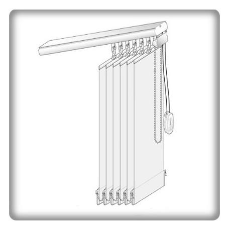 plaques de lestage pour lamelles verticales 127 mm amazing store a lamelle verticale kit. Black Bedroom Furniture Sets. Home Design Ideas