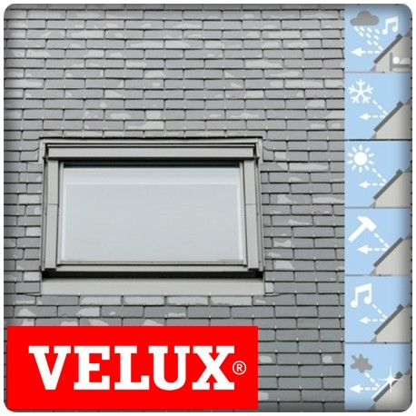 velux 114x118 avec volet roulant stunning pose de volet roulant velux ralisations with velux. Black Bedroom Furniture Sets. Home Design Ideas